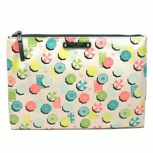Kate Spade Sand Hill Circle Clutch / Cosmetic Bag